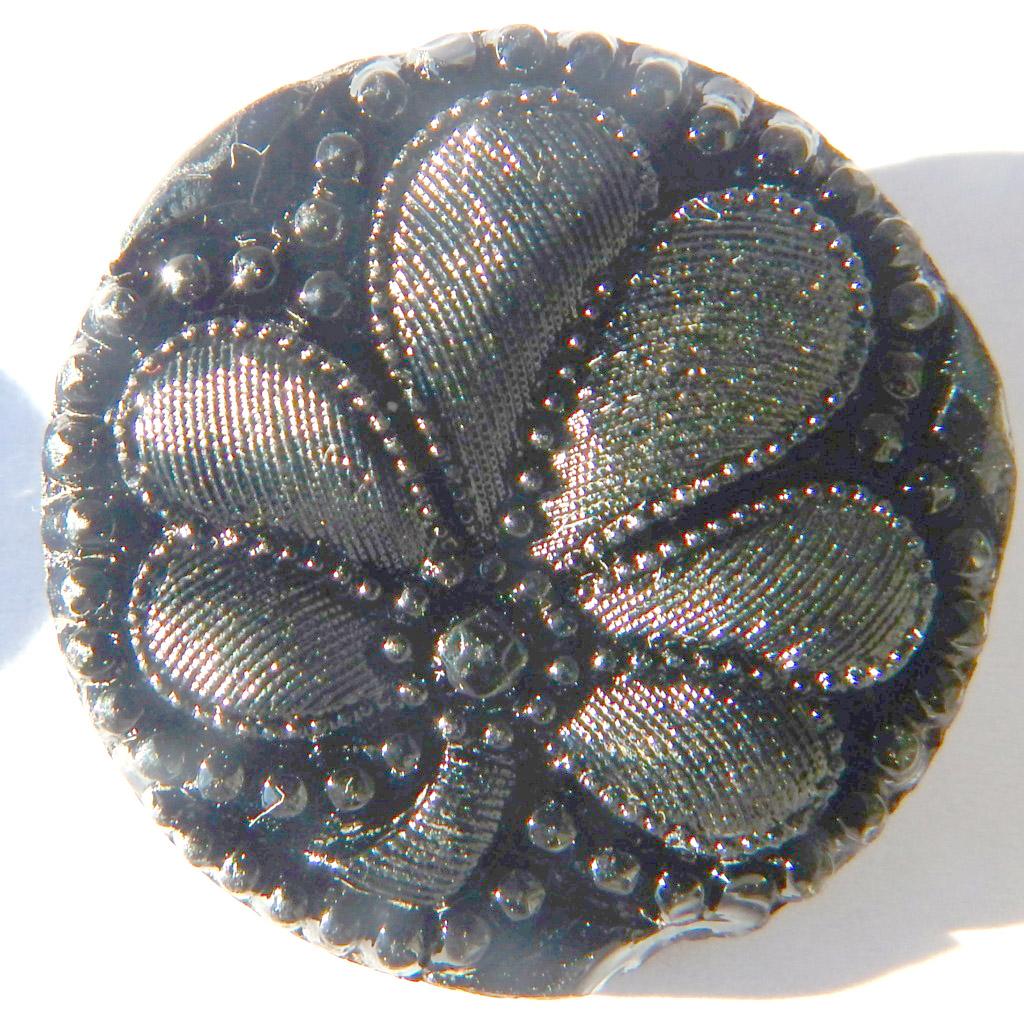 Boutons ciselés à motif floral en verre moulé pressé Dscn1111