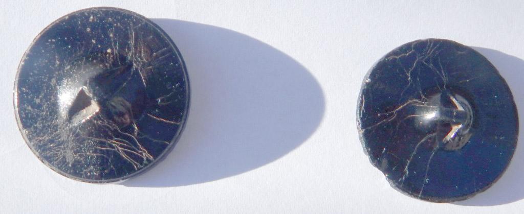 Boutons ciselés à motif floral en verre moulé pressé Dscn1112