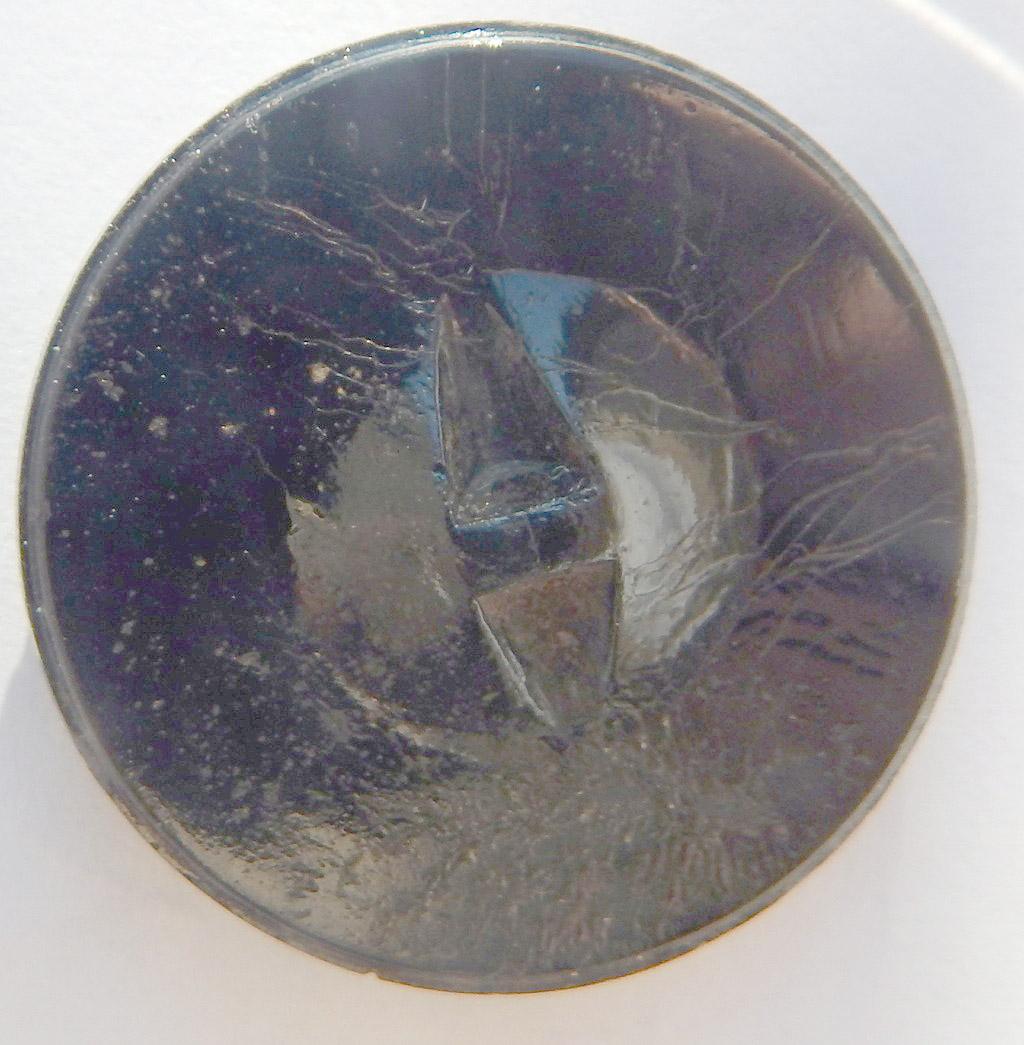 Boutons ciselés à motif floral en verre moulé pressé Dscn1113