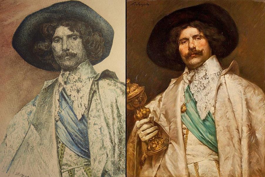Portrait d'un gentilhomme au calice d'après Ferdinand Roybet - Page 2 G2o3gt10