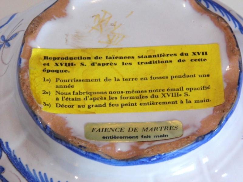 Dessous de plat faïence reproduction du 17 et 18 ème S-l16038