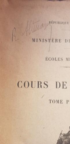 Général Altmayer : Un exemplaire du Cours de tactique - Edition 1921  20190810