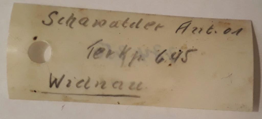 Identification propritéaire initial d'un Schmidt Rubin 96/11 20200514