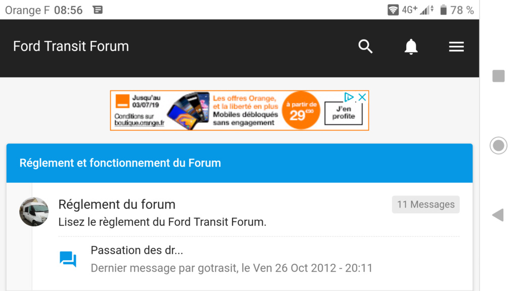 optimisation du forum Screen47