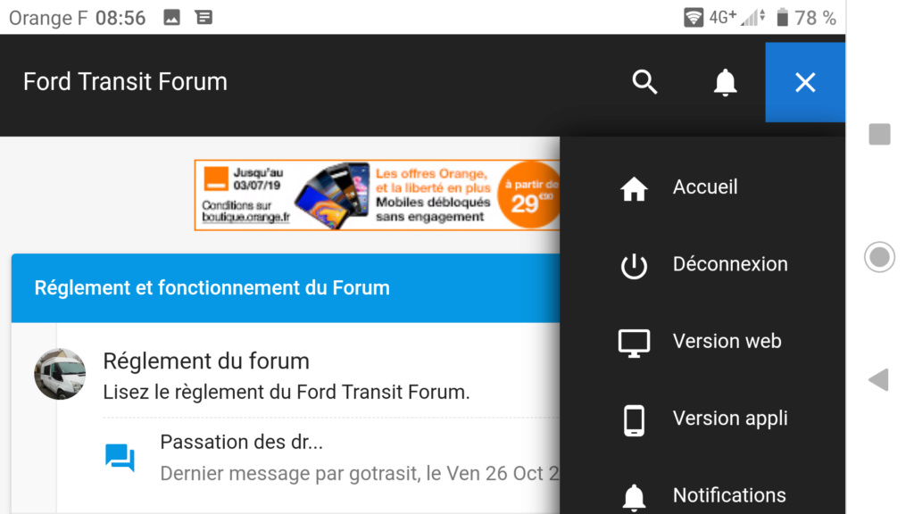 optimisation du forum Screen48