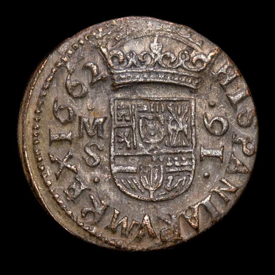 16 maravedís, Felipe IV, 1662, Madrid 16_mar11
