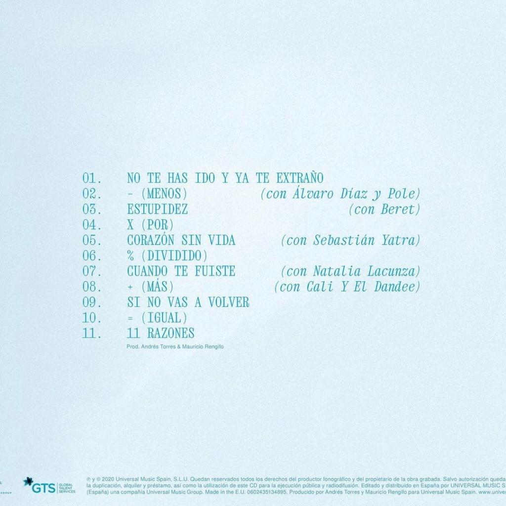"Aitana >> álbum ""11 Razones"" 20201120"