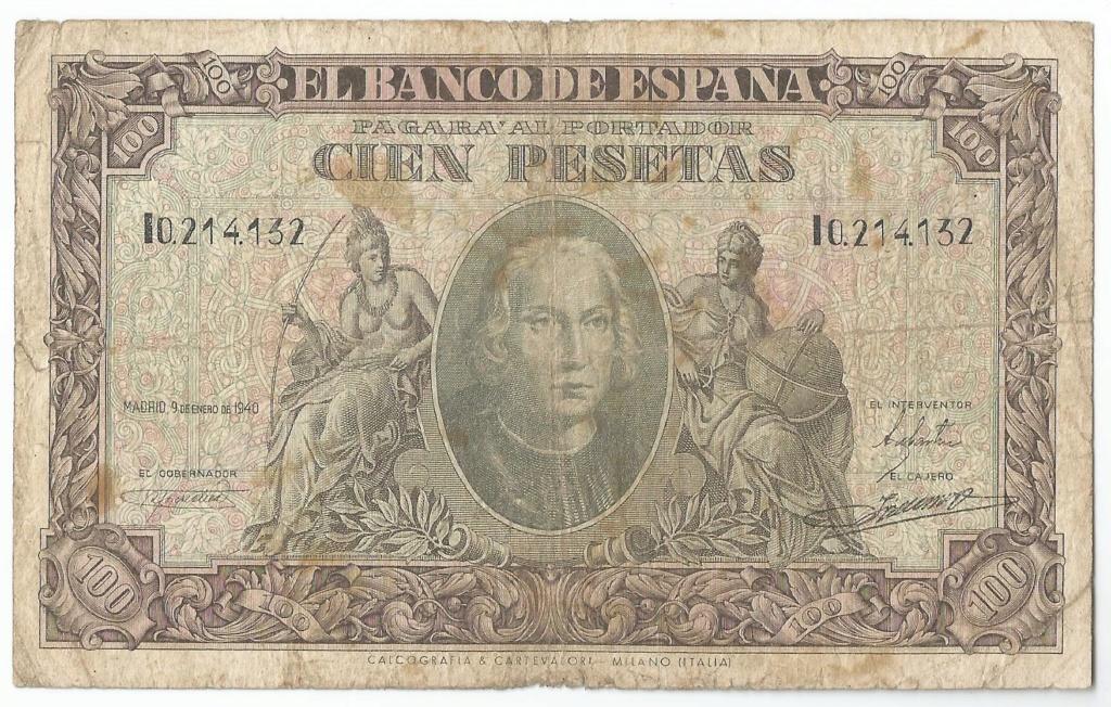 Serie Rara - 100 Pesetas de Colón - serie i 100_pe11