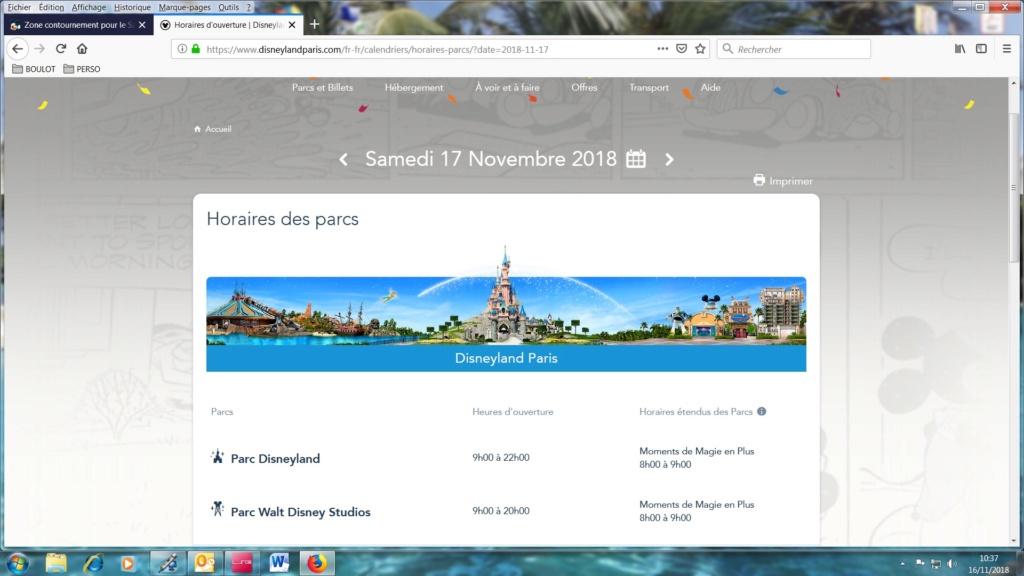 Zone contournement pour le Samedi 17 Novembre pour accéder à Disneyland - Page 2 Horair10