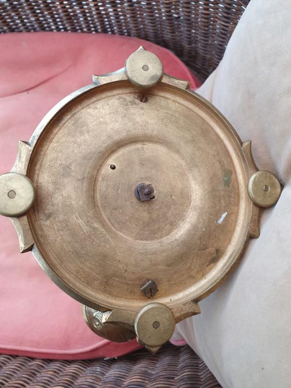 Pied de lampe bronze: objet à identifier 20210914