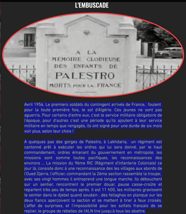 L'EMBUSCADE DES GORGES DE PALESTRO - Avril 1956 Captu193