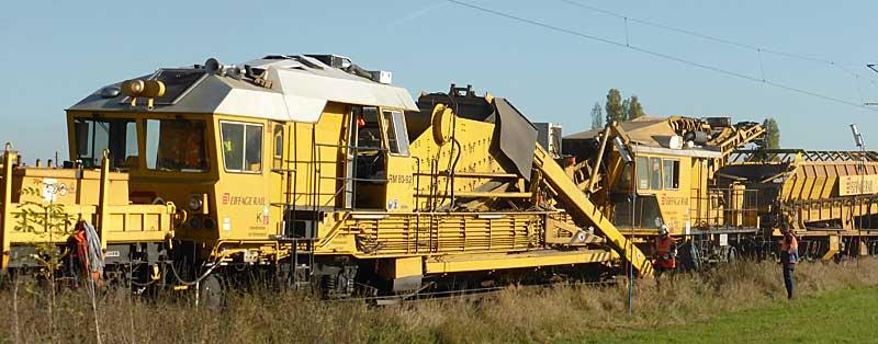 Gleisbauzüge im Einsatz Gbau0011