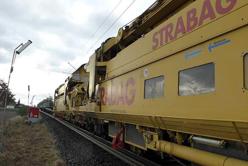 Gleisbauzüge im Einsatz Gbau0114