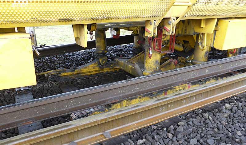 Gleisbauzüge im Einsatz Gbau0118