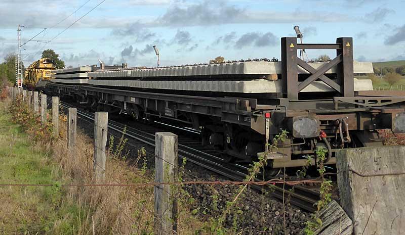 Gleisbauzüge im Einsatz Gbau0119