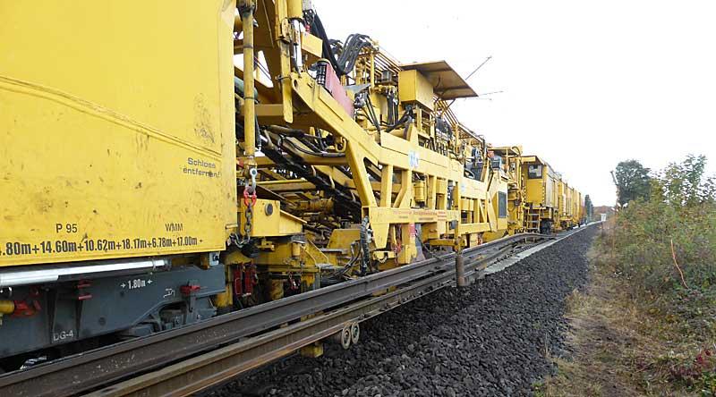 Gleisbauzüge im Einsatz Gbau0211