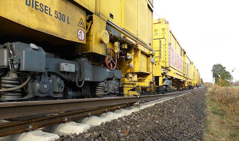 Gleisbauzüge im Einsatz Gbau0213