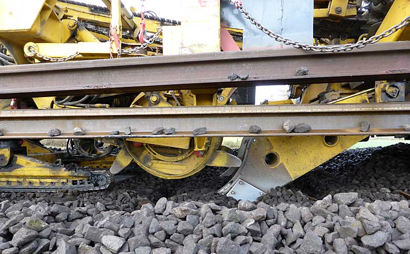 Gleisbauzüge im Einsatz Gbau0214