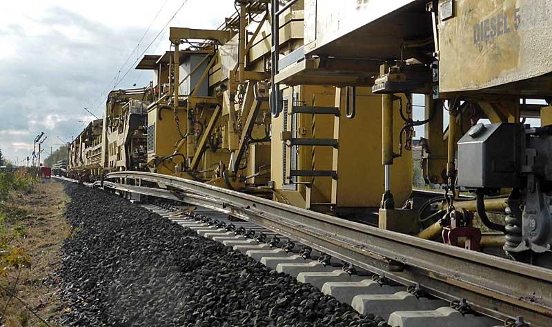 Gleisbauzüge im Einsatz Gbau0215