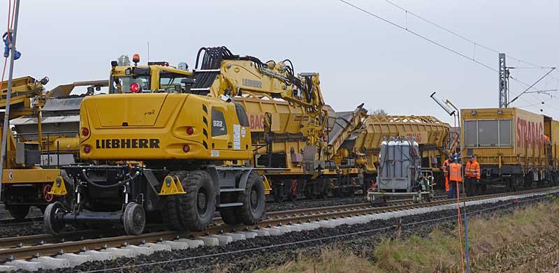 Gleisbauzüge im Einsatz Gbau0312