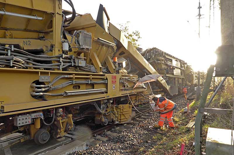 Gleisbauzüge im Einsatz Gbau0315