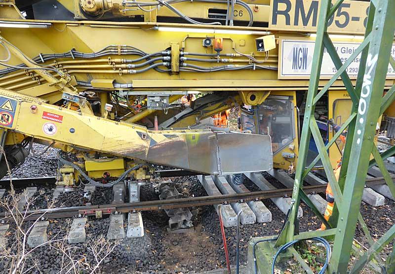 Gleisbauzüge im Einsatz Gbau0318