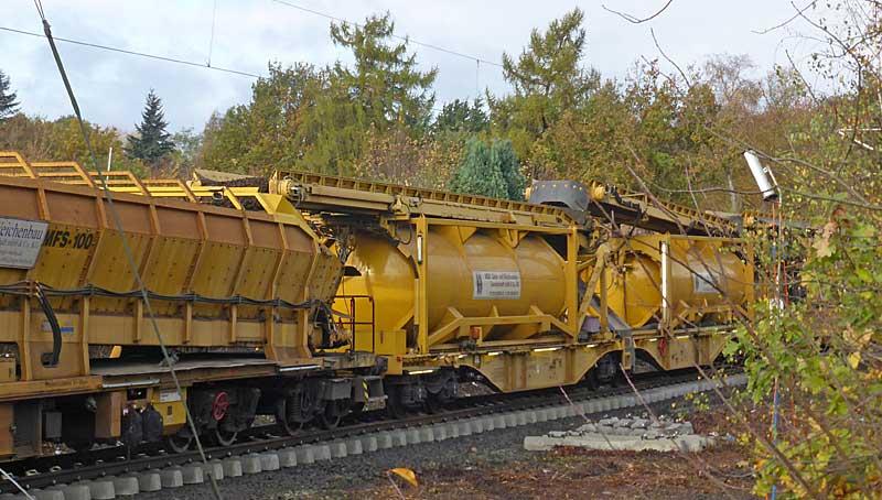 Gleisbauzüge im Einsatz Gbau0414