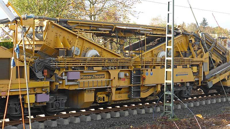 Gleisbauzüge im Einsatz Gbau0417