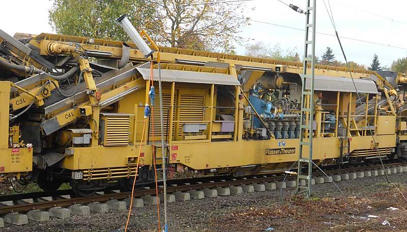 Gleisbauzüge im Einsatz Gbau0514