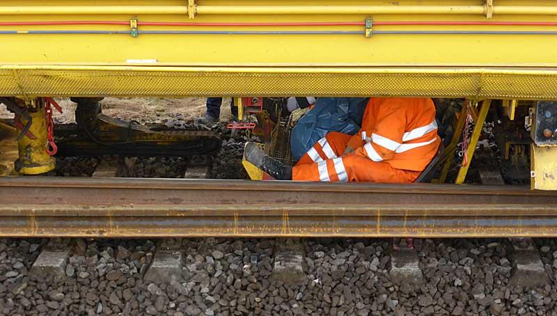 Gleisbauzüge im Einsatz Gbau0615