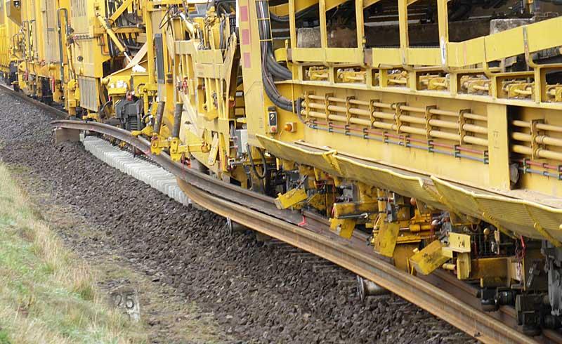 Gleisbauzüge im Einsatz Gbau0616