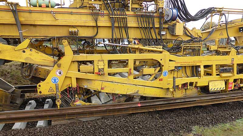 Gleisbauzüge im Einsatz Gbau0618