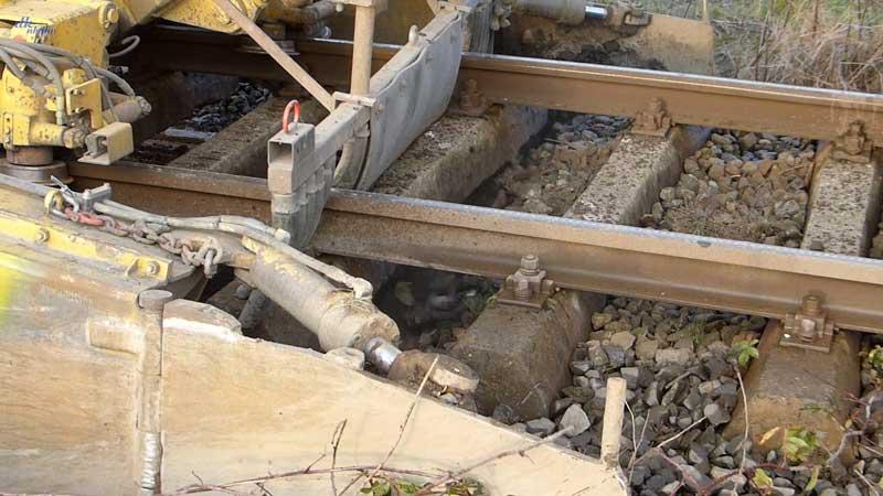 Gleisbauzüge im Einsatz Gbau0710