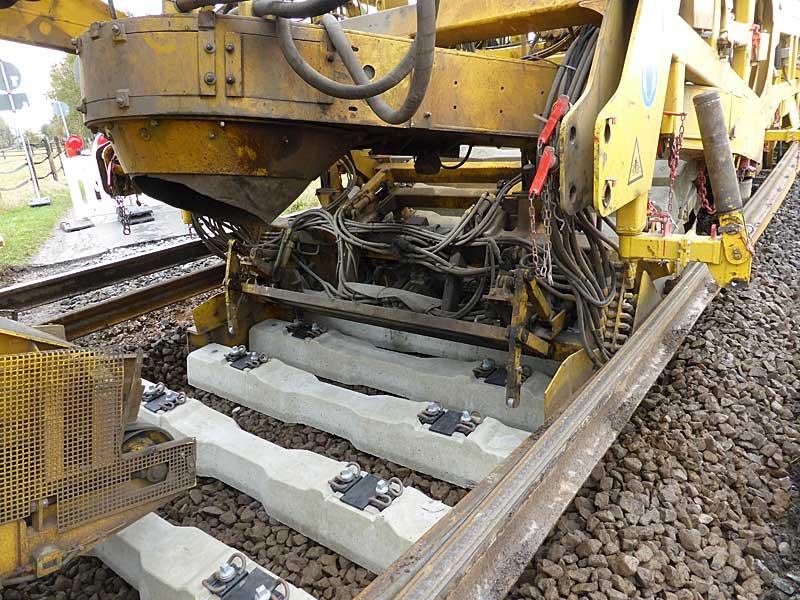 Gleisbauzüge im Einsatz Gbau0712