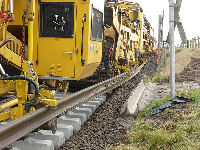 Gleisbauzüge im Einsatz Gbau0713