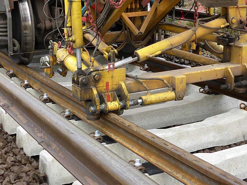 Gleisbauzüge im Einsatz Gbau0714