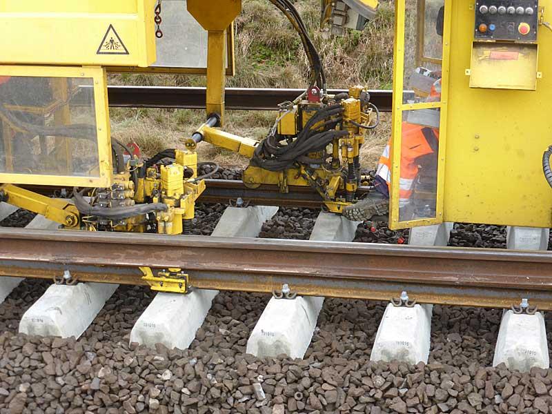 Gleisbauzüge im Einsatz Gbau0715