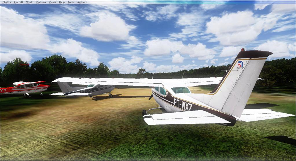 Aviação de garimpo, vôo com os colegas 2020-512