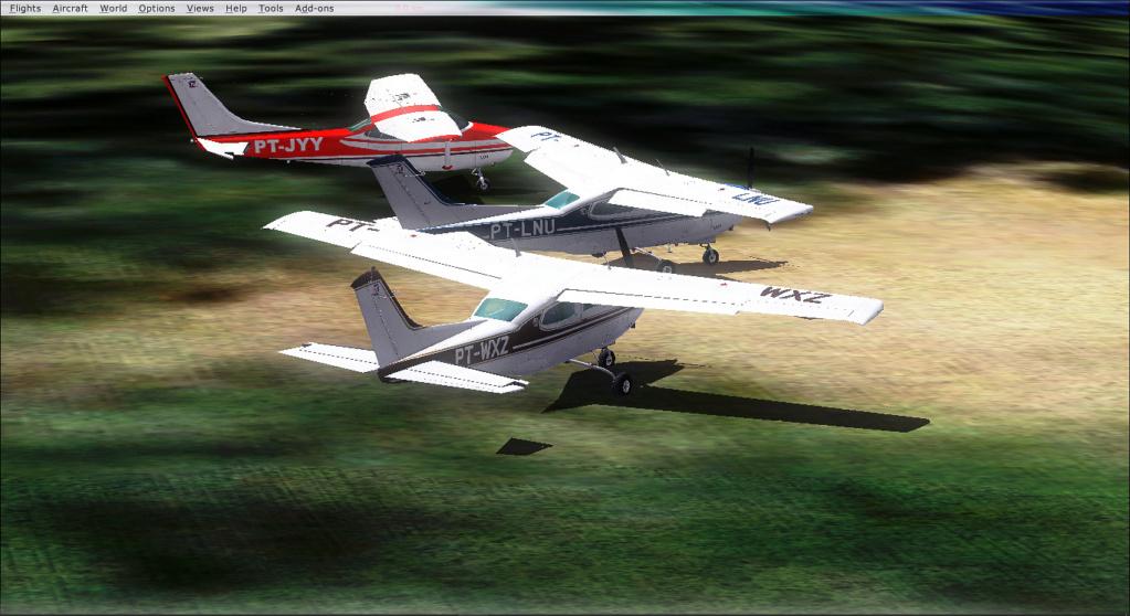 Aviação de garimpo, vôo com os colegas 2020-513