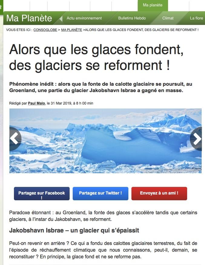 Le réchauffement une fumisterie bien organisée  - Vidéo - Page 2 Glacie10