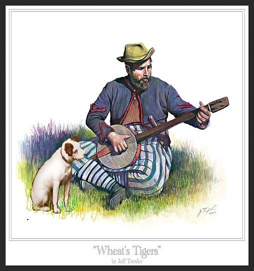 le joueur de banjo par BONO Wheat11
