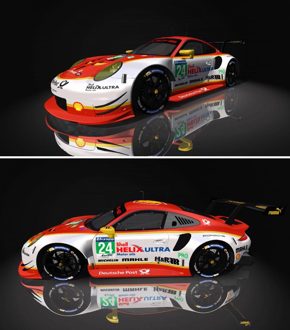 Porsche 911 RSR Skin pack & Upgrade Patch Shell_10