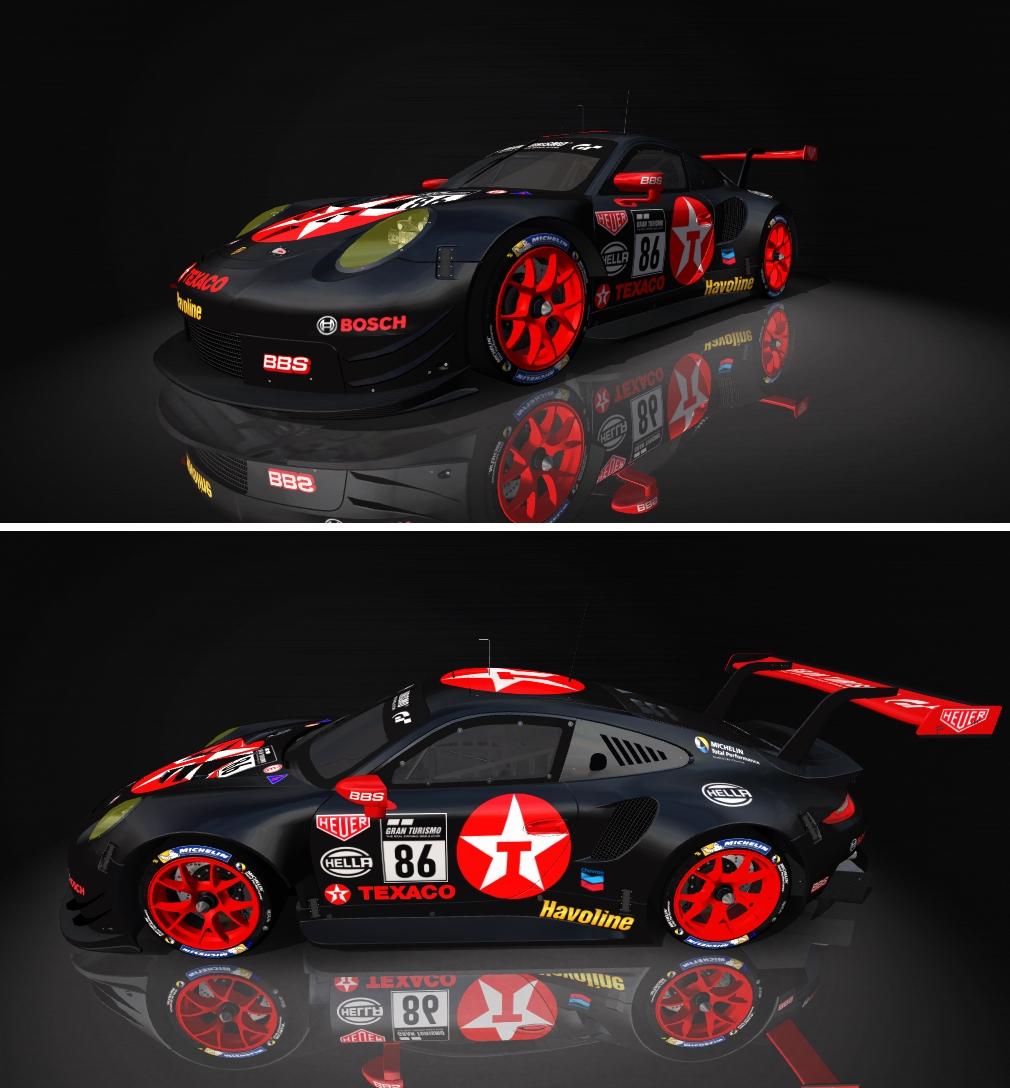 Porsche 911 RSR Skin pack & Upgrade Patch Texaco10