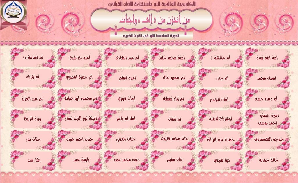 تكريم لجان وطالبات الدورة السادسة للنبر واستقامة الأداء القرآني A110