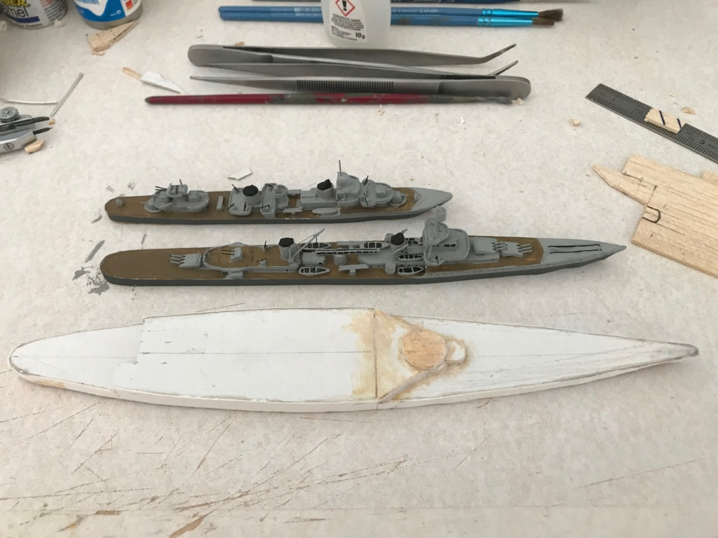 Diorama marine française 1940 - scratch carton - 1/1000 Img_3630