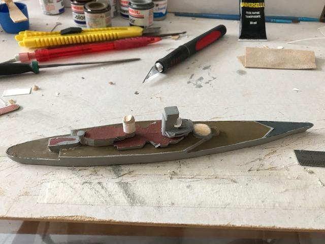 Diorama marine française 1940 - scratch carton - 1/1000 Img_3638