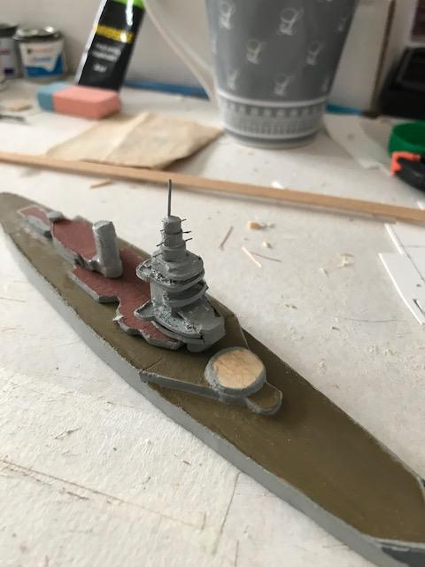 Diorama marine française 1940 - scratch carton - 1/1000 Img_3641