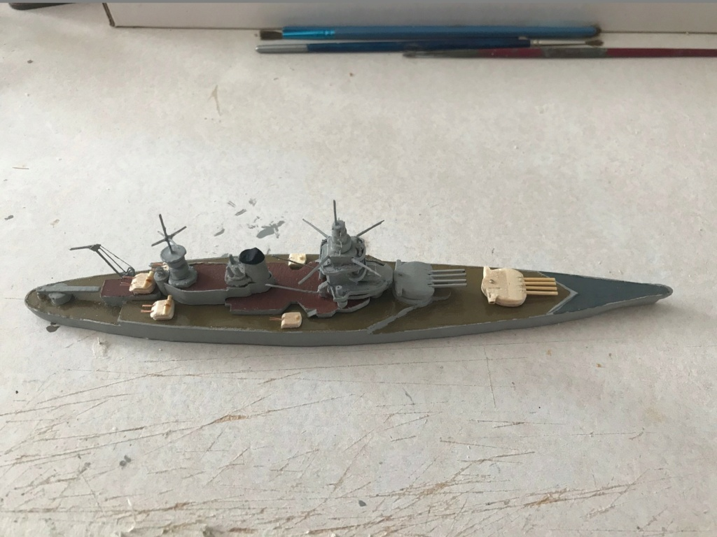 Diorama marine française 1940 - scratch carton - 1/1000 Img_3718
