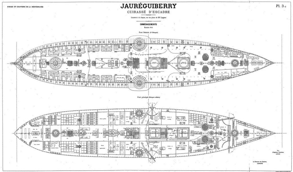 Cuirassé Jauréguiberry 1/500 Scratch Jaureg10