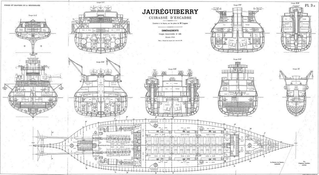 Cuirassé Jauréguiberry 1/500 Scratch Jaureg11